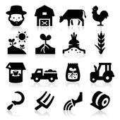 Farm Icons Two — Stock Vector