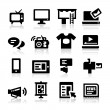 Advertisement icons — Stok Vektör