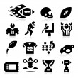 American Football Icons — Vettoriali Stock
