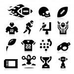 American Football Icons — Stock Vector