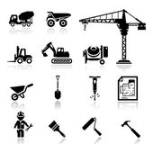 Icons set construction — Stock Vector