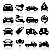 Iconos de negocios auto — Vector de stock