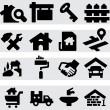 Real Estate Icons — Stock Vector #33100779
