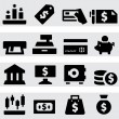 Money icons — Stock vektor