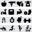 fitness icons — Stock Vector