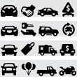 Stock Vector: Auto business icons