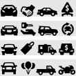 Auto business icons — Stock Vector