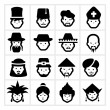 People Icons five — Imagen vectorial