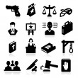 Law Icons — Stok Vektör