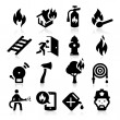 Firefighting icons — Stock Vector
