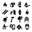 Stock Vector: Firefighting icons