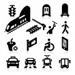 Public Transportation Icons — Stock Vector