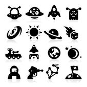 Space Icons two — Stok Vektör
