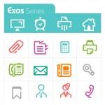 icone ufficio - exos series — Vettoriale Stock  #38601871
