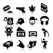 Stock Vector: Rap Music Icons
