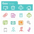 Stok Vektör: Office Icons - Exos series