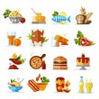 Food icons - colored series — Stock Vector #38601925