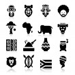 Stock Vector: AfricCulture Icons