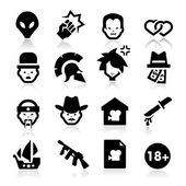 Movies Genres Icons — Stock Vector