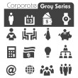 Stock Vector: Corporate Icons Gray Series