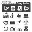Business Communication Icons Gray Series — Stock Vector