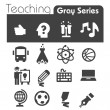 Stock Vector: Teaching Icons Gray Series