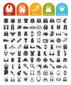 Clothes Icons Bulk Series - 100 Icons — Stock Vector
