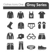 Clothes Icons Gray Series One — Stock Vector