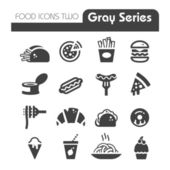 Fast Food Icons gray series — Stock Vector