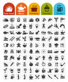 Food Icons bulk series - 100 icons — Stock Vector