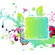 Colorful abstract floral frame — Stock Vector #11038320