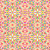 Ornamental flower arabesque background — Stock Vector