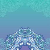 Blue ornamental background — Stock Vector