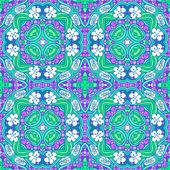 Grape flower mandala pattern — Stock Vector