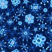 Зимний узор снежинки — Cтоковый вектор