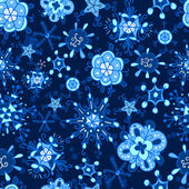 Zimní vzor vločka — Stock vektor