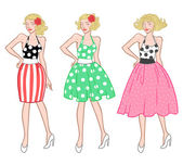 Vintage rockabilly girl — Stock Vector