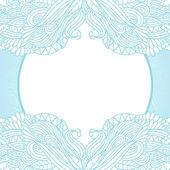 Wavy floral sketch template — Stock Vector