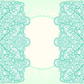 Ornate mint background — Stock Vector