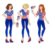 American girls — Stock Vector