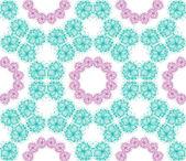 Stroke flower pattern — Stock Vector
