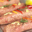 Kebab in a butchery — Stock Photo