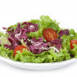 Lettuce and red cabbage salad — Stock Photo