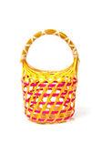 Empty Colorful Wicker Basket (hand made) — Foto de Stock