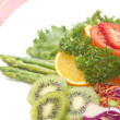 Stock Photo: Close up fusion fruit salad,vetgetable and fruit salad