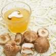 Stock Photo: Mushroom soup,fusion food