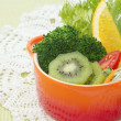 Stock Photo: Fusion food, fruit and vegetable salad