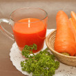 Fresh carrot juice ,healthy diet drink — Stock Photo