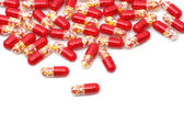 Colourful medical pills background — Stock Photo