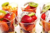 Healthy mix of different summer fruits and vegetable — Стоковое фото